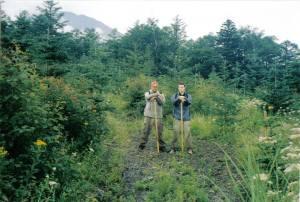 With Sensei Andy on Mt Fuji 2001