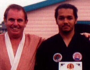 Receiving 3rd Dan from Soke Dossett 1995