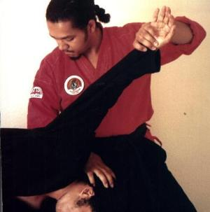 Demonstrating with Shihan Jeremy 1994